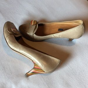 Anthropologie Rainbow heels